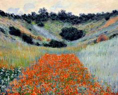 claude monet | Claude Monet - Poppy Field in Hollow near Giverny at Boston Museum of ...