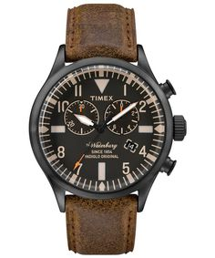 An easygoing, rugged-refined watch from Timex. #menswear #watchgame