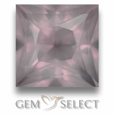 GemSelect features this natural untreated Rose Quartz from South Africa. This Pink Rose Quartz weighs 6.4ct and measures 10.7 x 10.6mm in size. More Princess-Cut Rose Quartz is available on gemselect.com #birthstones #healing #jewelrystone #loosegemstones #buygems #gemstonelover #naturalgemstone #coloredgemstones #gemstones #gem #gems #gemselect #sale #shopping #gemshopping #naturalrosequartz #rosequartz #pinkrosequartz #squaregem #squaregems #pinkgem #pink Pink Gemstones, Loose Gemstones, Natural Gemstones, Buy Gems, Light Pink Rose, Gem S, Pink Tourmaline, Gemstone Colors, Princess Cut