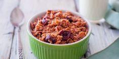 Raňajky v mikrovlnnej rúre za 5 minút: 10 lahodných nápadov - Mňamky-Recepty. Vegan Gluten Free, Vegan Vegetarian, Dried Cherries, Rolled Oats, Raisin, Fresh Fruit, Microwave, Blueberry, Oatmeal