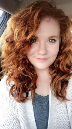 Okay, Deva Cut! I'm convinced! Curly Hair Cuts, Curly Hair Styles, Curly Ginger Hair, Shoulder Length Curly Hair, Medium Curly Haircuts, Permed Hairstyles, Silky Hair, Hair Lengths, Medium Hair Styles