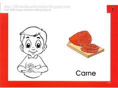 LIBRAS: Educandos Surdos: Sinais dos Alimentos Sign Language Book, Books, Lds, Fictional Characters, Signwriting, Sign Language, Alphabet, Vocabulary, Index Cards