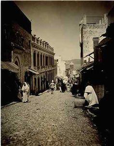 Marché, Tanger (Maroc, Morocco, Marruecos). Tirage citrate (vintage print), 17 x 22 cm, Circa 1890, 110 €, livraison gratuite