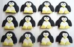 Fondant Cupcake Toppers Penguin Cupcake Toppers by CakesAndKids