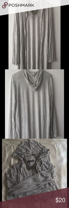"🍁Light Gray Long Cardigan🍁 Very thin and lightweight. Light gray in color. Long cardigan. Measures 34"" from the tag down. Great to have this handy for fall. Just throw it over your favorite top or dress. You won't get too hot because of the lightweight material. Brand new! Boutique Sweaters Cardigans"