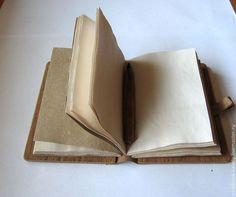 Купить Деревянный блокнот (кожа состаренная бумага А6) - деревянный, деревянный блокнот, блокнот