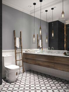Spectacular Contemporary Interiors - Home interior designs - Belleza Contemporary Interior Design, Modern Bathroom Design, Bathroom Interior Design, Industrial Bathroom Design, Bad Inspiration, Bathroom Inspiration, Diy Bathroom Decor, Small Bathroom, Master Bathroom