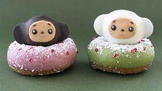 チェブラーシカのクリスマスドーナツが可愛すぎる大きな耳はクーベルチュールチョコレート