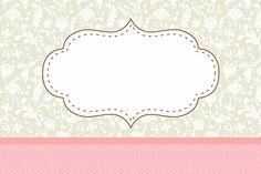 Poa rosa y gris Floral Vintage - Kit completo con los marcos para las invitaciones, las etiquetas de golosinas, souvenirs y fotos! | Hacer N...