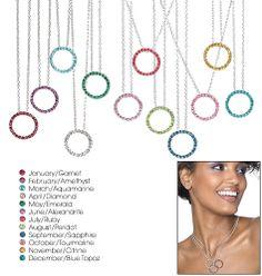 Birthstone Crystal Circle Necklace. Shop online at tashina.avonrepresentative.com