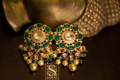Shop Statement Antique Jewellery Pieces From This Brand Gold Pendant, Pendant Jewelry, Jewelry Sets, Gold Jewelry, Jewelery, Indian Jewelry Earrings, Gold Earrings, South Indian Jewellery, Uncut Diamond