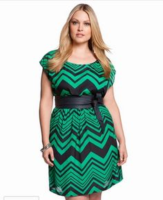 Chevron Print Dress by Eloquii
