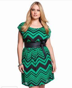 Chevron Print Dress by Eloquii