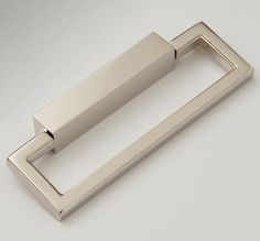 25915356-PN Hudson rectangular ring pull shown in polished nickel. Available in many other finishes.