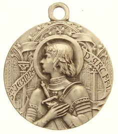 Superb Vintage Medal Holy Joan of Arc by G D | eBay