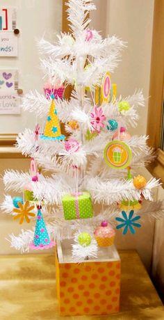 Birthday tree-away from the christmas tree!