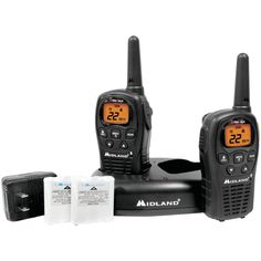 Midland 24-mile Gmrs Radio Pair Pack With Drop-in Charger & Rechargeable Batteries