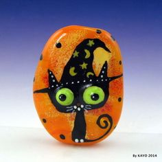 """""""THE WIZARD OF PAWS"""" byKAYO a Handmade MAGICAL CAT Lampwork Glass Focal Bead SRA #Lampwork"""
