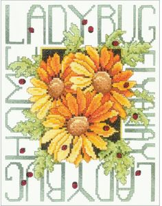 Ladybugs - Stamped Cross Stitch Kit
