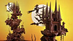 Spooky Chocolate Castle Cake Tutorial - Sample
