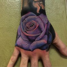 """Awesome rose by @chrisblinstontattoo #mindblowingtattoos"""