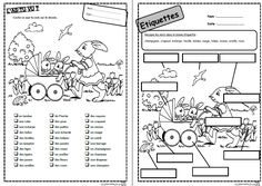 Mots d'avril,paques, lire, lecture, compréhension, mots, phrases, consignes, CP Ce1, CE2, cycle 2, dixmois French Class, French Lessons, French Worksheets, Busy Bags, Fractions, Grade 1, Comprehension, Cycle 2, Mardi Gras