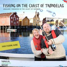 Fishing guide for the coast of Trøndelag. Lots of useful tips about fishing and travel information. This is the southern part of Kystriksveien and a bit further south, just outside Trondheim. The brochre can be ordered on www.kystriksveien.no Available in English, German and Norwegian. #fishing #angel #fiske #Trøndelag #Norway #Kystriksveien #Fosen #Hitra #Frøya #Trondheim
