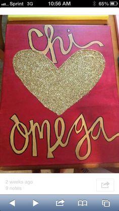 Chi Omega Crafts ❤