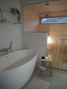 Sauna Design, Home Id, Sauna Room, Lets Stay Home, Spa Rooms, Loft Style, Scandinavian Home, Beautiful Bathrooms, Bathroom Interior