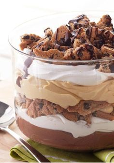 Peanut Butter-Chocolate Trifle — There's nothing trifling about this dessert recipe that has it all: peanut butter, cookies and creamy chocolate pudding.