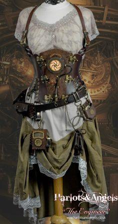 """Optional skirt lift w/ leather cord and keyring for """"seasons"""" keys"""
