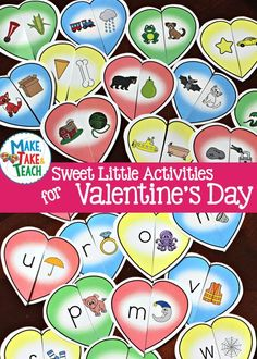 Fun activities for learning rhyme and letters/sounds! Valentines Day Activities, Hands On Activities, Fun Activities, Rhyming Kindergarten, Preschool, Primary Resources, Teaching Resources, Teaching Ideas, Beginning Sounds