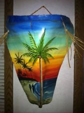 HAWAIIAN HAND PAINTED PALM TREE FROND/ PALM FROND ART--CUSTOM MADE!! EXTRA NICE!