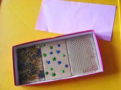 Psicopedagogia Salvador: Placas de papelão com texturas para trabalhar o se...