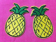 Lot Of 2 Pieces Pineapple 3.5 x 6 cm Embroidered Iron by SueSuki, $2.49