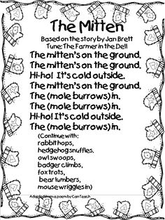 The Mitten Music & Movement activity