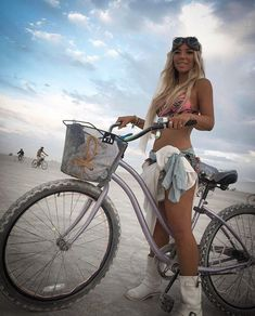 Music Festival Outfits, Music Festival Fashion, Festival Clothing, Burning Man Fashion, Burning Man Outfits, Burning Man Girls, Female Cyclist, Cycling Girls, Bicycle Girl