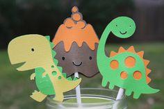 Dinosaur Cupcake Toppers Dinosaur Birthday by FlutteringByGrace, $10.25