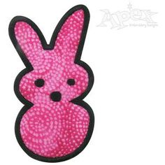 Easter Peeps Embroidery Designs. One unfilled and 2 applique designs. Size: 2.35 and 3.85""