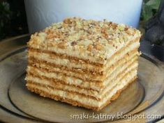 Polish Desserts, Polish Recipes, No Bake Desserts, Baking Recipes, Cake Recipes, First Communion Cakes, Desert Recipes, Food Inspiration, Sweet Tooth