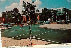Vintage Postcards Downtown Fayetteville Arkansas (has wear tear) Street View
