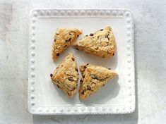 Brown butter chocolate chip scones minis by SoupAddict.com