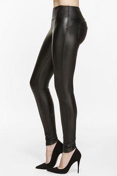 Diva Vegan Leather Fleece Legging