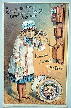 1890's Victorian Trade Card - Chadwick's Spool Cotton