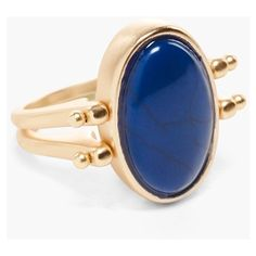 Chico's Brielle Reversible Ring ($39) ❤ liked on Polyvore featuring jewelry, rings, blue multi, blue band ring, band rings, cabochon ring, hinged ring and chicos jewelry
