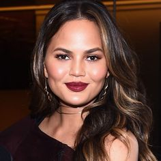 Chrissy Teigen - Wearing two rose gold chokers by Serenity.