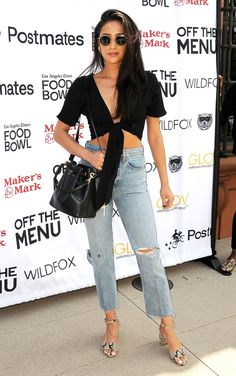 See the stars' best looks, from slaying the red carpet to flawless street style ensembles and more! Best Celebrity Dresses, Jennifer Love Hewitt, Shay Mitchell, Celebs, Celebrities, Wildfox, Nice Dresses, Red Carpet, Overalls