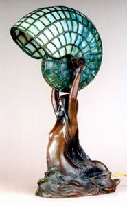 Louis Gudebrod, Mermaid Tiffany Desk Lamp, 1885/1920.    Click image above for 278x450 version.