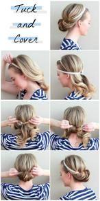 Ganz einfache Haarband Frisur