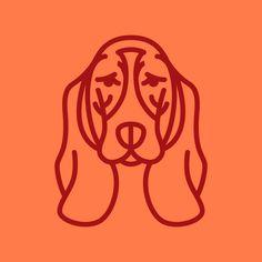 Basset Hound illustration by Steve Wolf for Golden Doodle. Logo Concept, Concept Art, Steve Wolf, Bassett Hound, Gorgeous Tattoos, Bow Wow, Goldendoodle, Line Drawing, Quilt Blocks